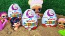 НАШЛИ КИНДЕР СЮРПРИЗЫ! На прогулке детского садика куклы малыши ЛОЛ сюрприз в песочнице мультики