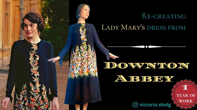 Из создания платья Мэри из Аббатство Даунтон Lady Mary 's 1920s dress from Downton Abbey