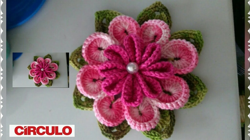 Outubro Rosa flor ternura em crochê com Maria José