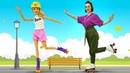 Игры для девочек одевалки - Кукла Барби катается на роликах! – Смешные видео для детей с Barbie
