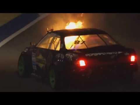 Загорелся автомобиль Дайго Сайто Daigo Saito Toyota Mark II Пожар на RDS GP 2018 Сочи