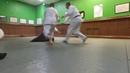 Randori exercise in zagi-handachi