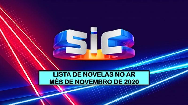 LISTAGEM NOVELAS ATUAIS NOVEMBRO 2020 SIC PORTUGAL