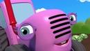 КОЛЁСА ТРАКТОРА КРУТЯТСЯ - Wheels on the Tractor - Песенки и мультики для детей малышей про машинки
