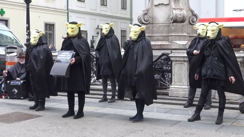 Demo Wien Schafe erwachen Kunstprojekt 20 2 2021