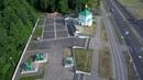 город Сосновый Бор, городские виды. Улица Ленинградская, пляж, ЛАЭС, съёмка с Xiaomi Mi Drone