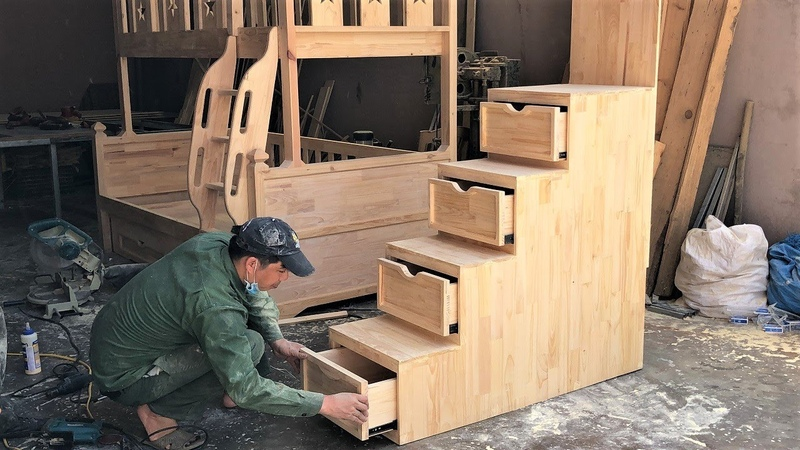 Ideas Smart Furniture Storage Bed Space Saving With Bedroom DIY Smart Unique Stairs For Kids Bunk