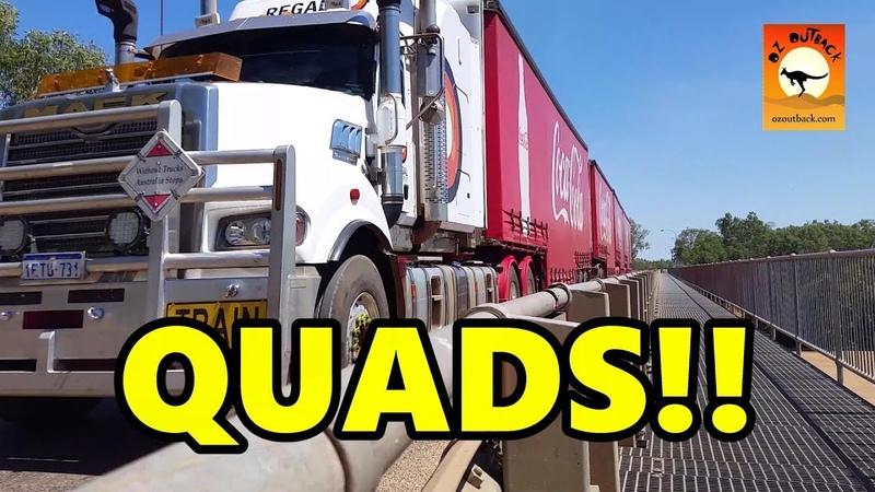 Extreme Trucks 26 QUADS MASSIVE four quad trailer road trains in ACTION outback Australia