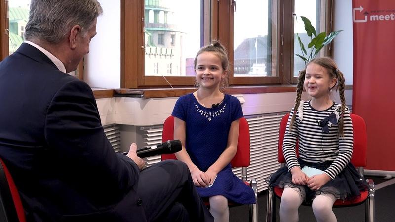 Sauli Niinistö vastaa lapsille Children interview Finland's President