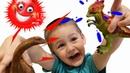 Динозавры для детей. Тироназавр Рекс. Развивающие видео для детей.