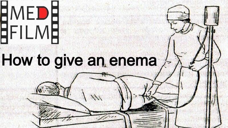 англ Как ставить клизму © How to put an enema patient