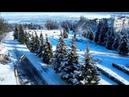 Аэросъёмка в Светловодске. Заснеженный спуск в начале марта