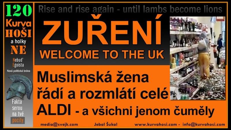 Anglie muslimská žena rozmlátila celý supermárket Česká levice tohle přitahuje i do CZ