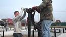 Реконструкция фундамента заменили ленту на винтовые сваи