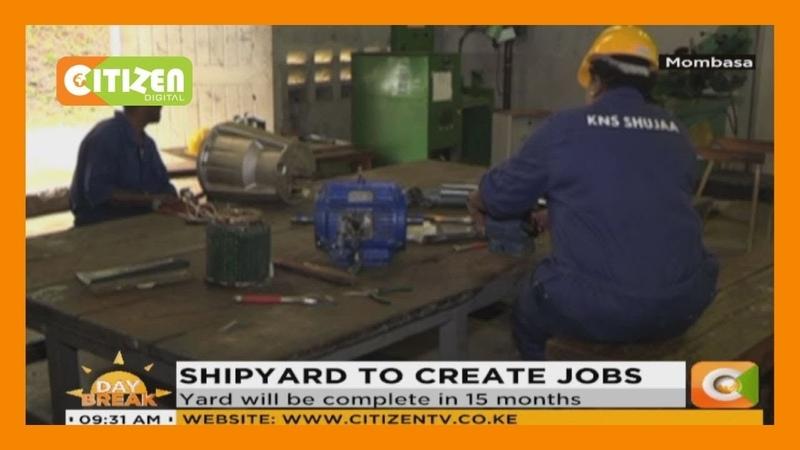 First ship building yard under construction at Kenya Navy's Mtongwe base