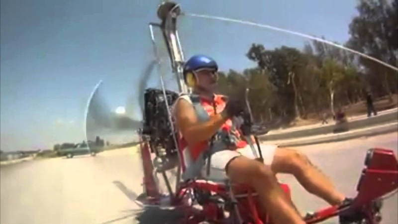 Gyroplane Gyrocopter Wreck Crash with slow motion video