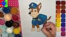 Гонщик из мультика Щенячий патруль. Paw Patrol Dog Racer. Простые рисунки для детей.
