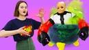 Кукла БАРБИ - Супергерой или Монстр Смешные видео с Barbie. Одевалки игры для девочек