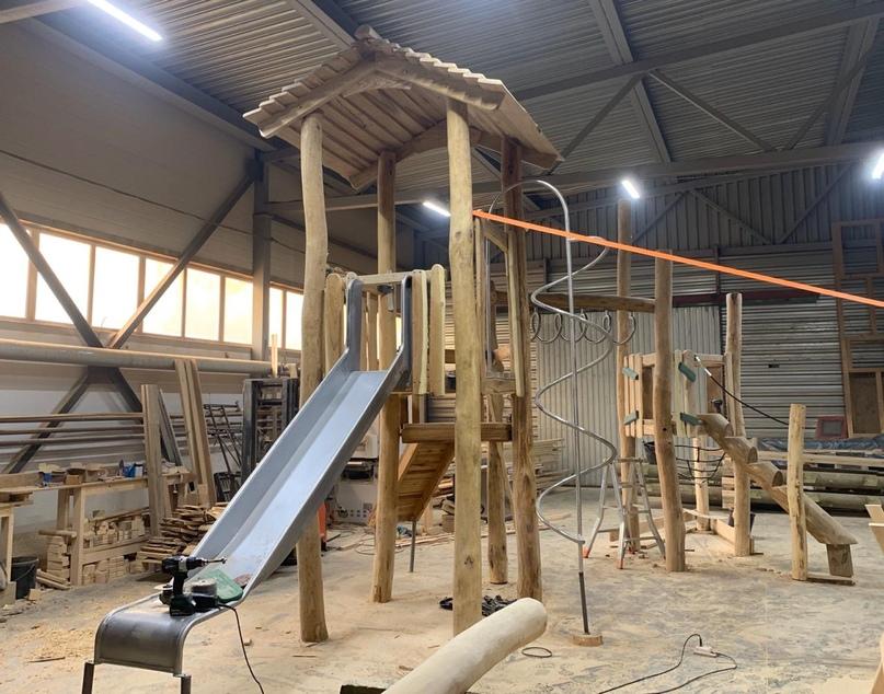 Изготовление и сборка детского игрового комплекса E1203.