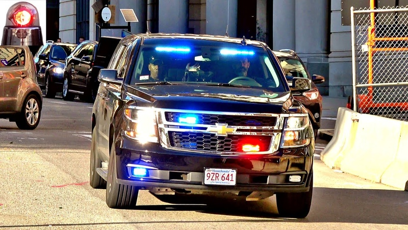 Boston Police Unmarked Car Chevy Tahoe PPV Ford Interceptor Responding Sirens