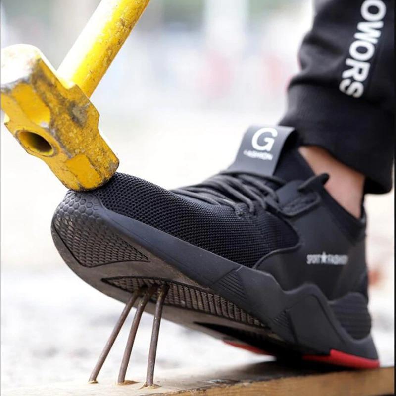 Рабочая обувь со стальным носком и прочной подошвой