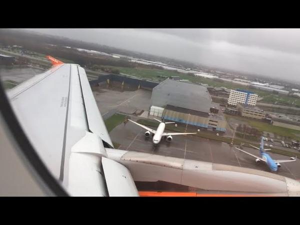 Turbulant go around in Amsterdam Schiphol EasyJet A319