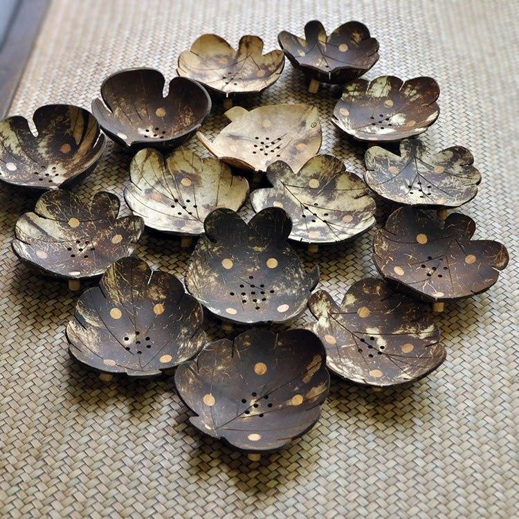 Мыльницы из скорлупы кокосового ореха ручной работы