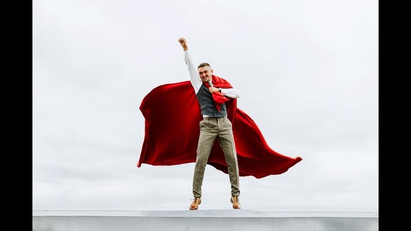 Wedding slide show Прикольное слайд шоу Superman из свадебных фотографий
