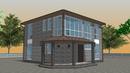 Проект дома 8 на 8 в 2 этажа двухэтажный дом 8 на 8 из газобетона