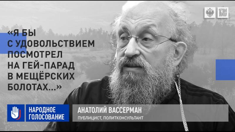 Анатолий Вассерман Я бы с удовольствием посмотрел на гей парад в мещёрских болотах…