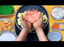 Завораживающая стоп-моушен анимацияготовим «ужин» из нарисованных овощей и мяса на моей бумажной кухне