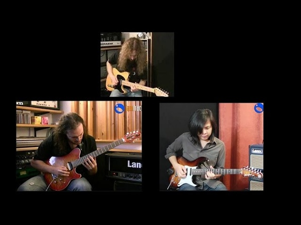 Drivin Blues - Alex Hutchings, Guthrie Govan, Jack Thammarat - JamTrackCentral.com