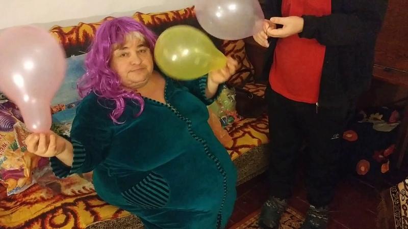 Inflating Balloons Enema fetish