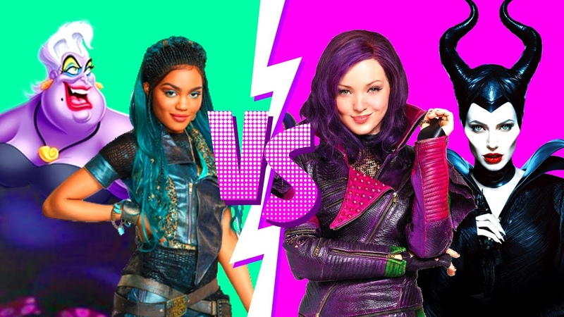 Mal and Maleficent VS Uma and Ursula PRINCESS RAP BATTLES Descendants Rap Battle