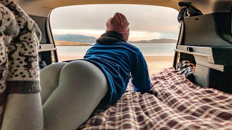 Кольский полуостров. Териберка. Жаркая ночь в машине на берегу океана 7