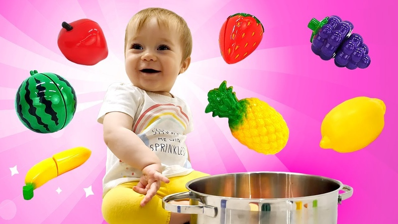 Vidéo pour enfants pour apprendre les fruits en français Bianca faite une compote de fruits