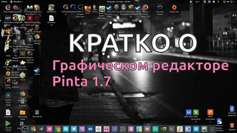 КРАТКО О Графическом редакторе Pinta 1.7