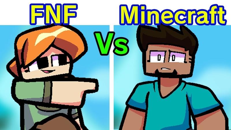 Friday Night Funkin' Steve Alex VS Enderman Dad Minecraft Edition FNF MOD Hard