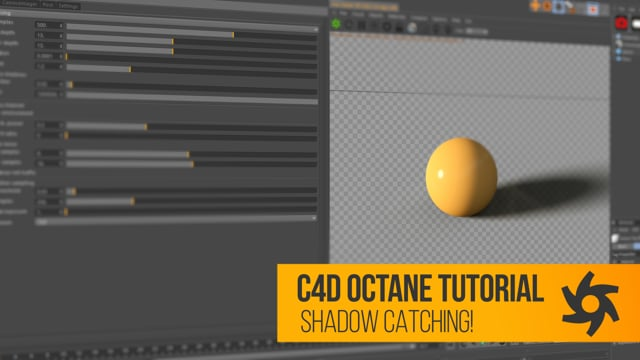 Cinema 4D Otoy Octane Tutorial Shadow Catcher for Compositing