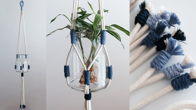 Macrame Plant Hanger for beginners DIY tutorial 마크라메 플랜트 행거