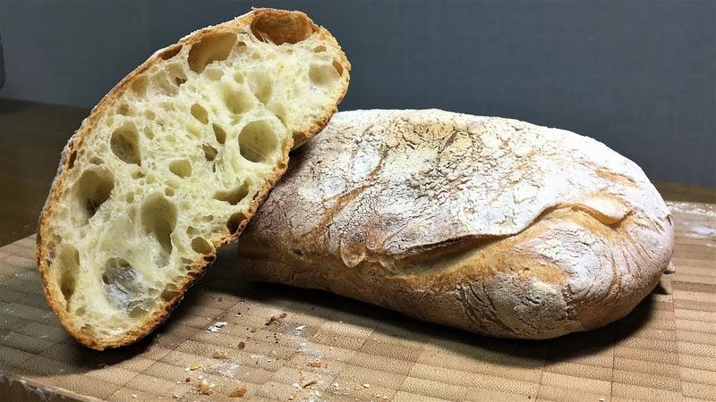 Ciabatta Bread Recipe 77%hydration 10%olive oil