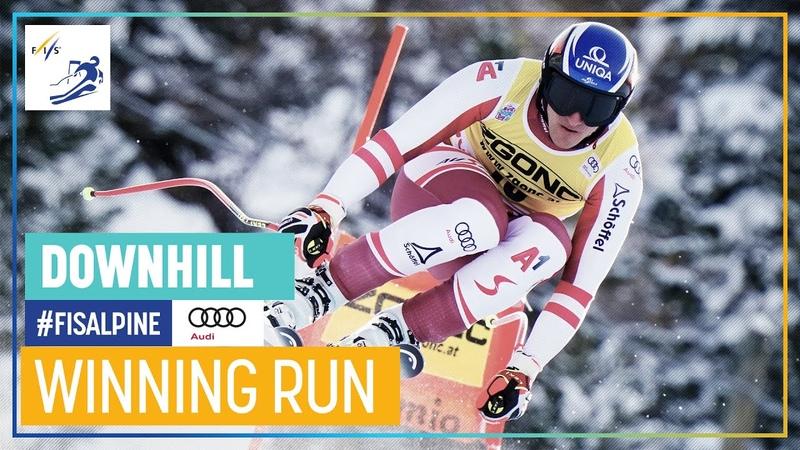 Matthias Mayer 1st place Bormio Men's Downhill FIS Alpine