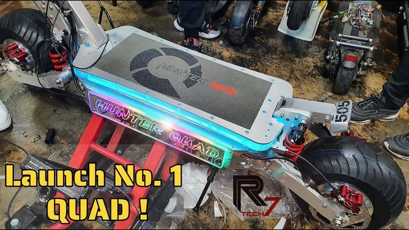 🛴 HUNTER QUAD 🥇Factory No 1 Driving Video Electric scooter 전동킥보드 전동스쿠터