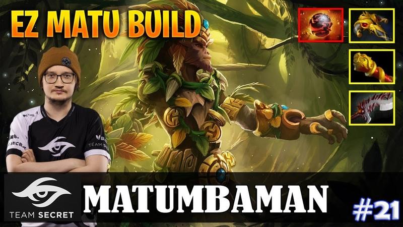 MATUMBAMAN Monkey King Safelane EZ MATU BUILD Dota 2 Pro MMR Gameplay 21