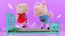 Peppa et George ont saccagé le magasin. Vidéo avec les jouets en peluche pour enfants.